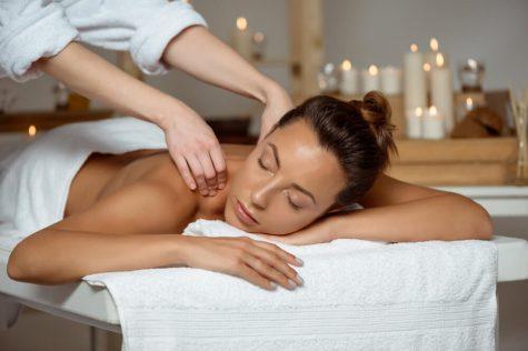 salon spa back massage towel blanket wrap